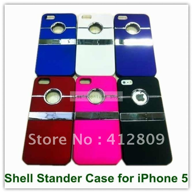 EMS/DHL Free Luxury Chrome Back Case for iPhone 5 5S wholesales 100PCS 6Colors Smooth Case(China (Mainland))