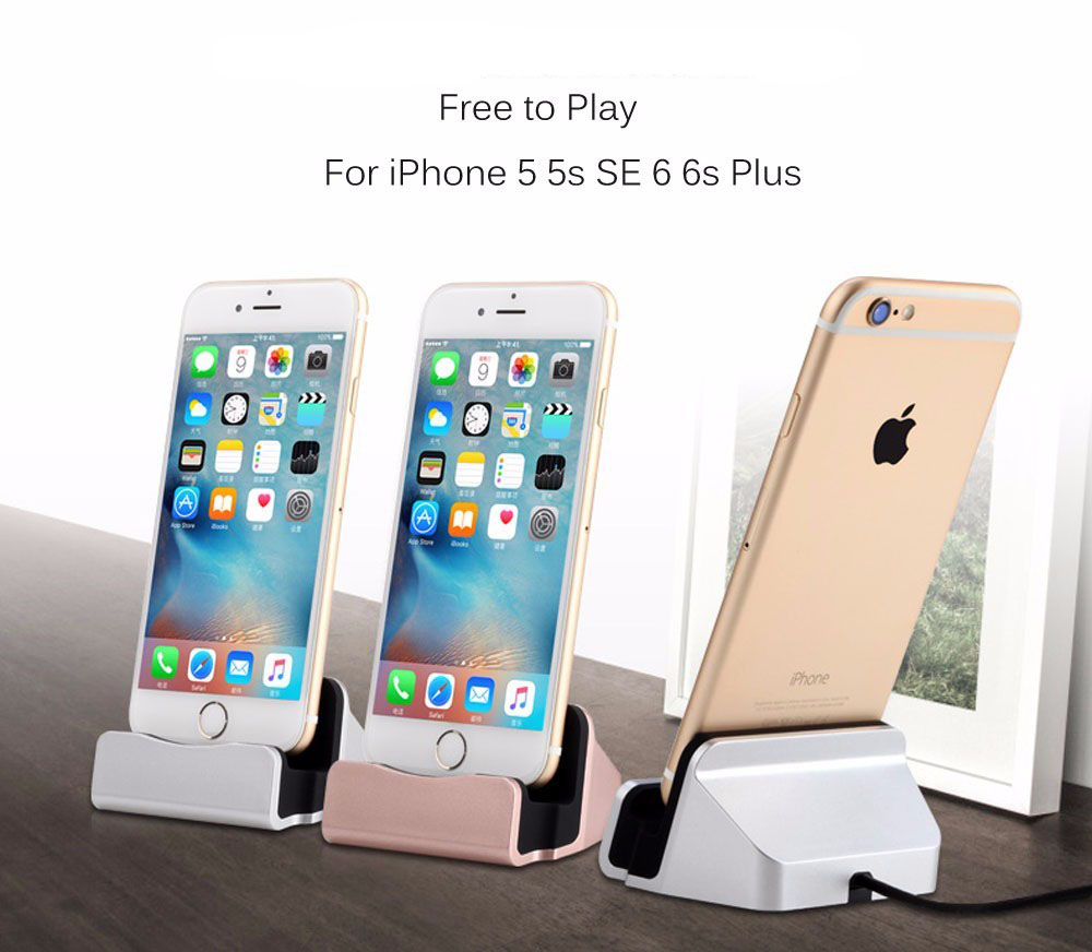 Charger Dock Stand Station For Apple iPhone SE 5 5S 5C 6 6S Plus 7 7 Pro Charging Dock Lazyman Bracket Cradle Charging Sync Dock(China (Mainland))