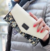 1 PCS New Women Lady Winter Hasp Leather Wallet Flower Envelope Purse Portfolio Card Holder Mobile Bag Long Zip Coin Handbag(China (Mainland))
