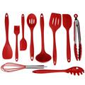 Hot 10PCS Heat Resistant Convenient Safe Silicone Kitchen Cookware Set Nonstick Cooking Tools Set Kitchen Baking
