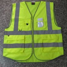 Hi Vis Safety Vest Reflective Vest-Size S M L XL XXL 3XL 4XL-Lime Orange(China (Mainland))