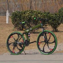 folding bicycle  standard configuration 24speed 26 inch double disc adult bicycle unisex biycle onewheel popular in globle(China (Mainland))
