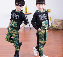 New Camouflage Kids Clothing Set for Boys&Girls Spring&Autumn Cotton Camo Boys Sports Set Active Girls Clothing Sets fleece