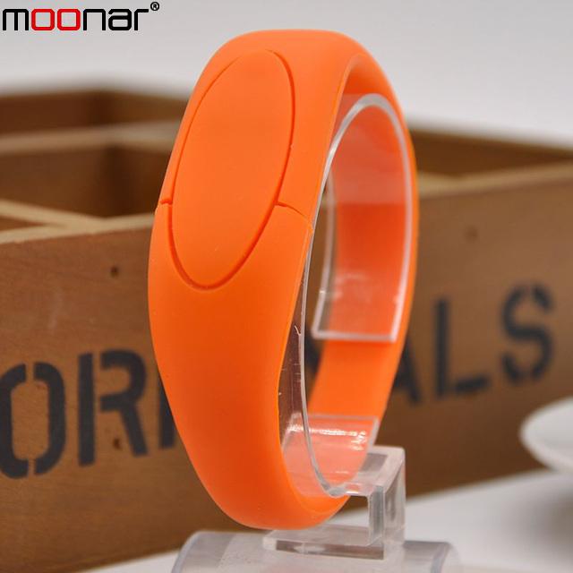 100% real capacity colorful bracelet wrist band USB Flash drive silicone USB Stick Pen Drive 16GB X60*DA1366W3#M10(China (Mainland))