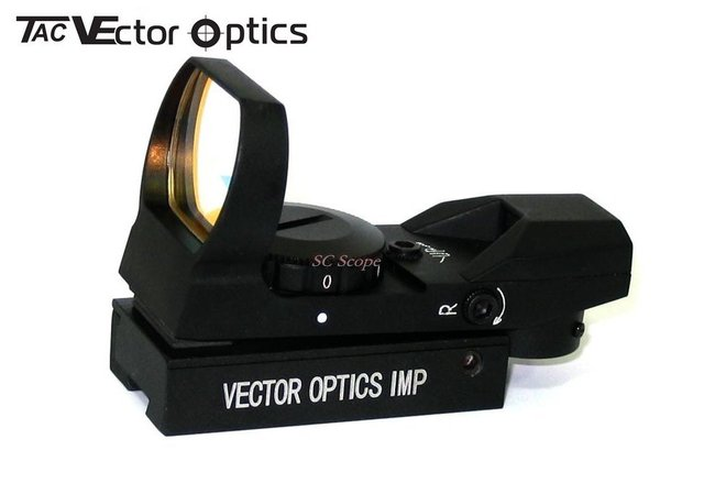 Free Shipping Vector Optics 1x23x34 Multi Reticle Reflexive Red Dot Scope Sight with 11mm Dovetail Mount Base