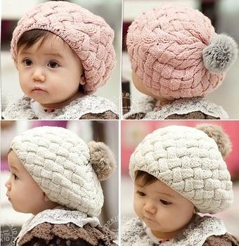 gorros baby beaine kids winter bonnet hat,faux rabbit fur crochet skullies cap for 0-3 years old girl,turbante toucas de inverno