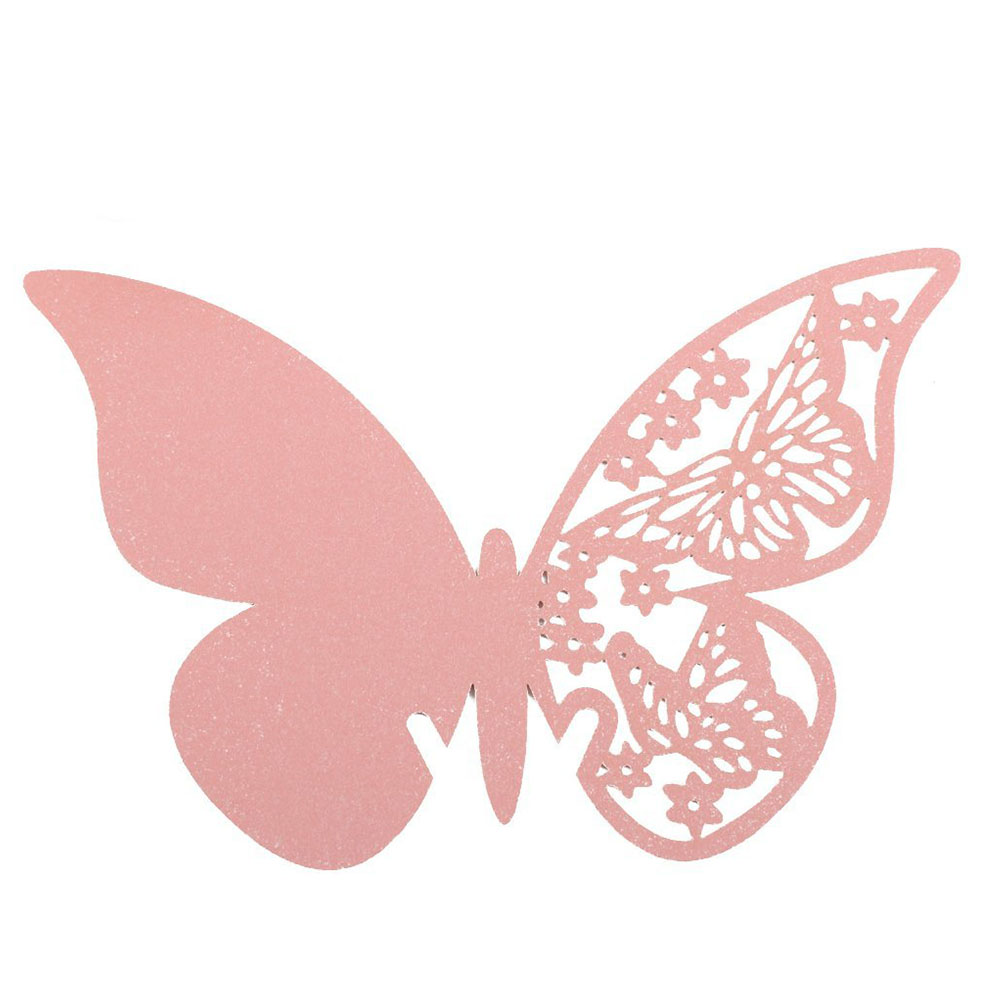 50PCS Hollow Butterfly StyleTable Place Cards Wine Glass Laser Cut Butterfly Mark Name for Wedding Party Decor Product(China (Mainland))