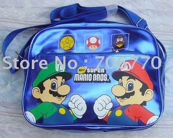 Free Shipping 2pcs/lots New Super Mario Bros beautiful  Handbag Tote very cute glisten