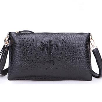 Фабричная распродажа новинок, Женская винтажная сумочка-клач из спилок с отделкой под крокодиловую, вечерний дамский ридикюль, сумки через плечо, сумки-почтальоны, прямая доставка