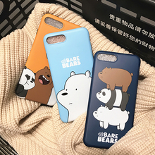 Buy New Korean Cartoon Bare Bear Cute Animal Coque Capa Rubber Gel Protect Soft Phone Cases Cover iPhone 7 6S Plus 7Plus Fundas for $3.69 in AliExpress store