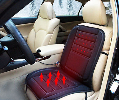 1 Pcs Black Universal 12V Car Heated Front Seats VAN Cushion 12 VOLT PADDED Heat Pad Fit 97x48cm(China (Mainland))