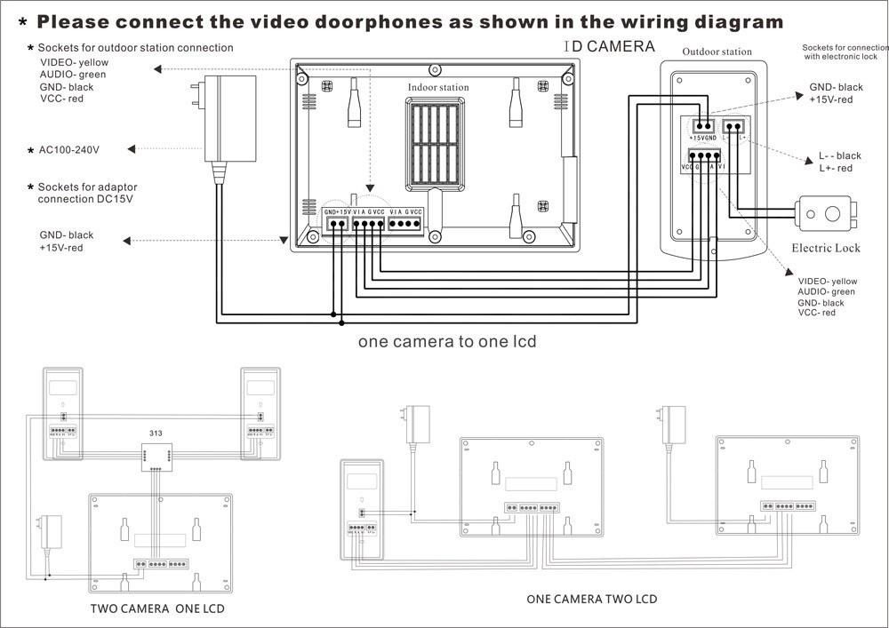 7 Inch Monitor Video Door Phone Intercom Doorbell System
