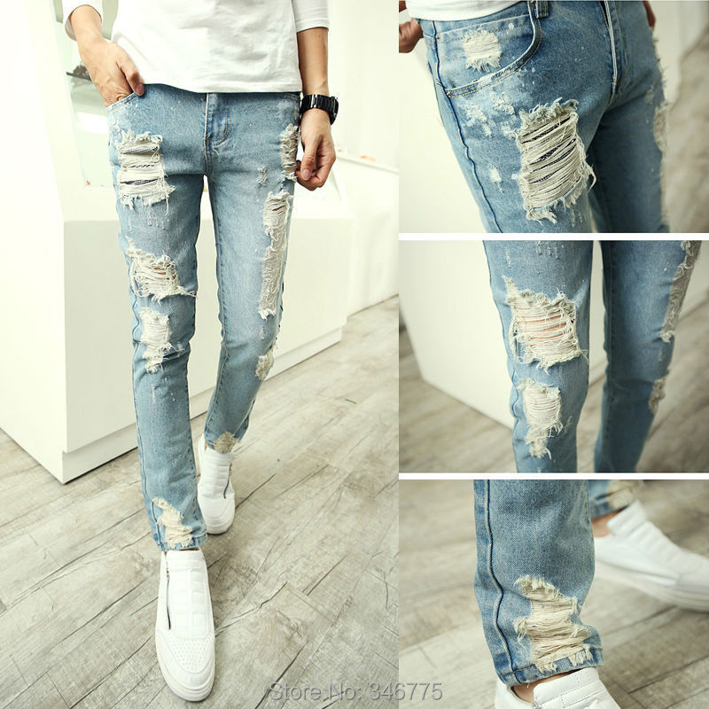Boys skinny ripped jeans - ChinaPrices.net