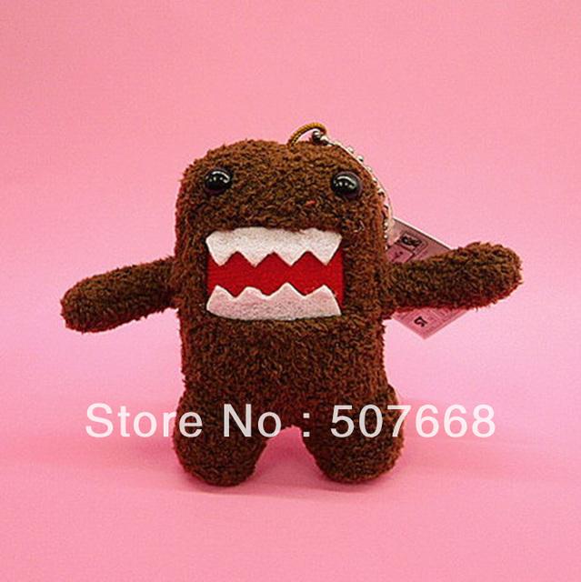 "Free Shipping 200pcs Cute Domo Kun Plush Doll Toy Keychain 3.5"" baby kids phone keychain Domo kun keychain nice tags"