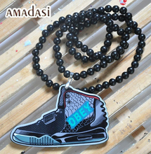 Fashion yeezy shoes necklace Acrylic Hiphop necklace(China (Mainland))