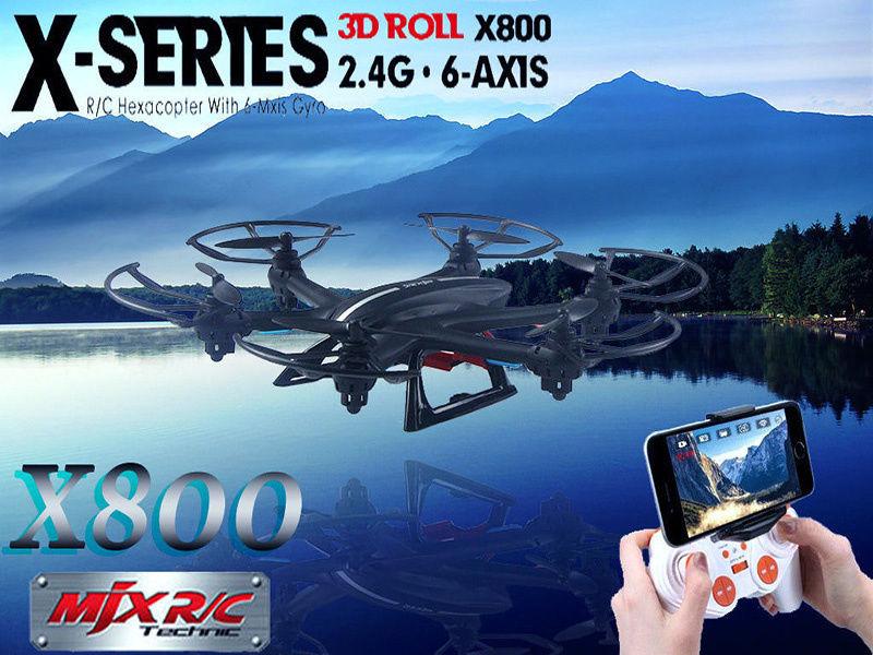 Free Shipping MJX X800 6 axis Gyro Quadcopter font b Drone b font RC 3D Roll