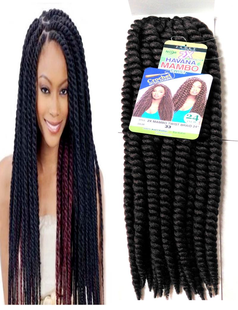 33# 24' crochet hair extensions synthetic Weave havana mambo twist braiding extension pad purple - CC HAIR STORE store