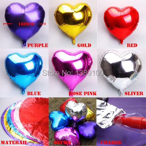 Image De Papel Aluminio Baloon Coraz N Para La Boda Fiesta Download