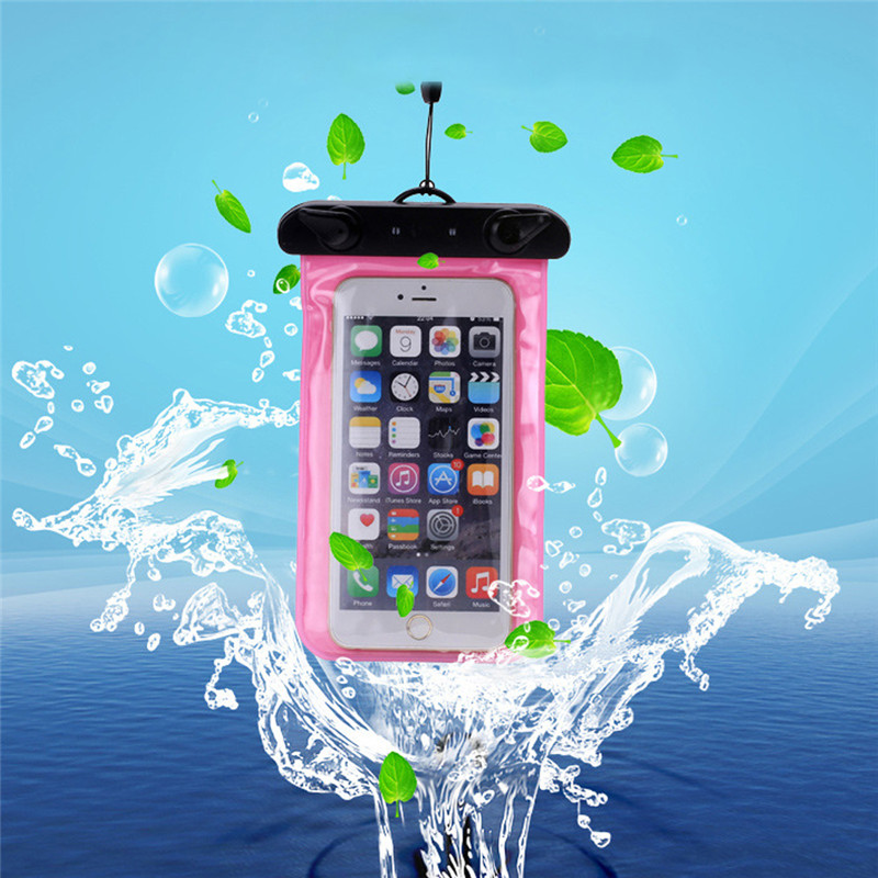 Mobile Phone Case Bag Waterproof Pouch Underwater for iPhone 6 6s plus 5 5c 5s for Samsung galaxy s7 s6 s5 s4 huawei xiaomi(China (Mainland))