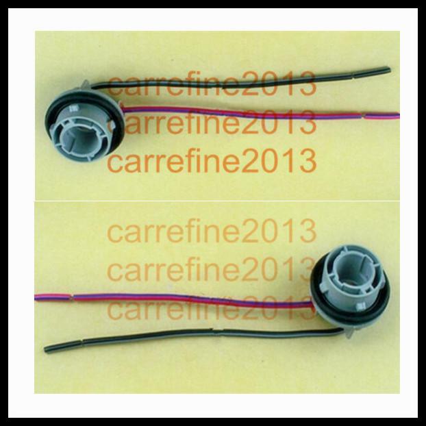 1156 bulb socket brake turn signal light harness wire LED pig tail plug 7506 BA15S(China (Mainland))