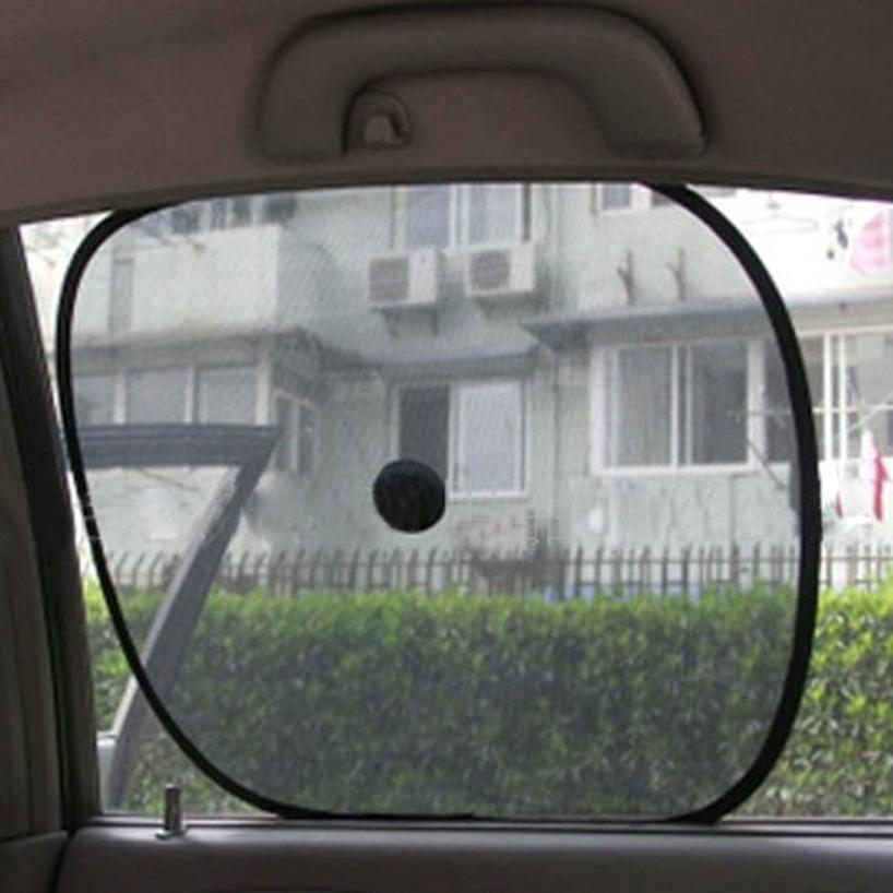 Essential 2pcs Black Side Car Sun Shade Rear Window Sunshade Cover Mesh Visor Shield Screen 625(China (Mainland))