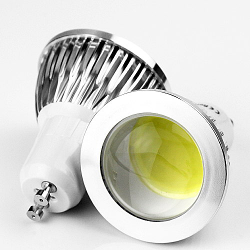 Free shipping GU10 7W 85V-265V Cob Spot Light Spotlight Led Bulb COB Downlight Lighting High Power Warm/Cool White(China (Mainland))