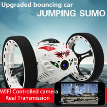 New sale upgrade version Bounce RC Stunt Car 4CH 2.4GHz Jumping Sumo Remote Control with high-definition 200million camera/wifi(China (Mainland))