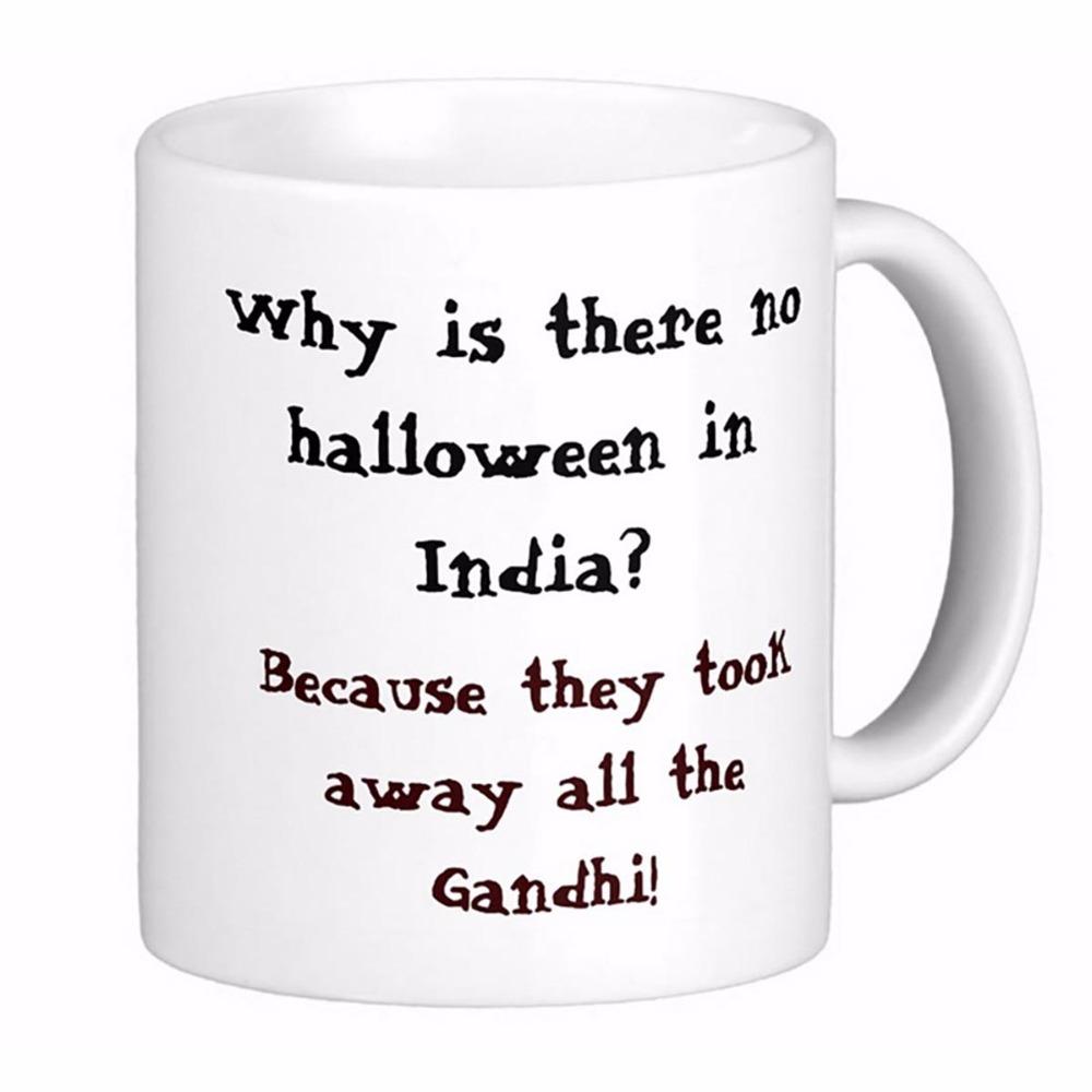 Why Is There No Halloween In India White Coffee Mugs Tea Mug Customize Gift By LVSURE Ceramic Cup Mug Travel Coffee Mugs(China (Mainland))