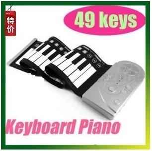 Wholesale - Portable ROLL-UP Soft Electronic USB Piano Organ Keyboard New 49 Keys and 30 Function 2014 Style Soft Keyboard Piano(China (Mainland))