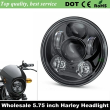 "2016 New Motos Accessories 5.75"" headlight motorcycle 5 3/4"" led headlight for Harley 5-3/4"" Motorcycle Black Projector Daymaker(China (Mainland))"