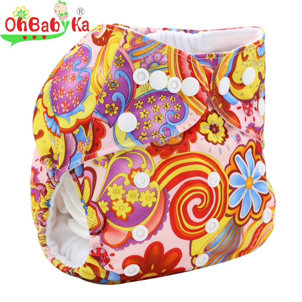 Reusable Washable Cloth Diaper Cover Couche Lavable 2016 Brand Newborn Baby Diaper Character Print Bamboo Diaper(China (Mainland))