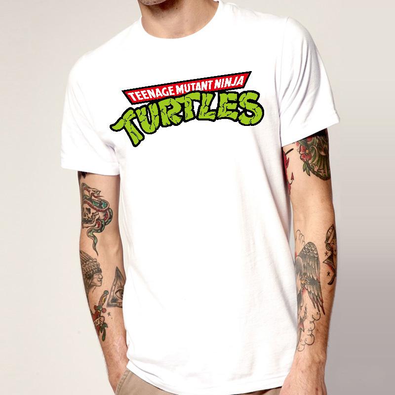 Popular Teenage Mutant Ninja Turtles Mens Cartoon T Shirts Short Sleeve Round Neck Animal Funny Fashion