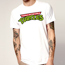 Popular Teenage Mutant Ninja Turtles Mens Cartoon T Shirts Short Sleeve Round Neck Animal Funny Fashion Male t-shirt