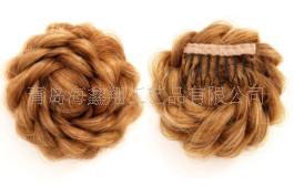2015 Real Hot Sale Prisila Brand Hair Bun Wig High-temperature Raw Silk Balls The Blond Plait(China (Mainland))
