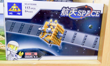 model building kits compatible with lego city satellite 542 3D blocks Educational model & building toys hobbies for children