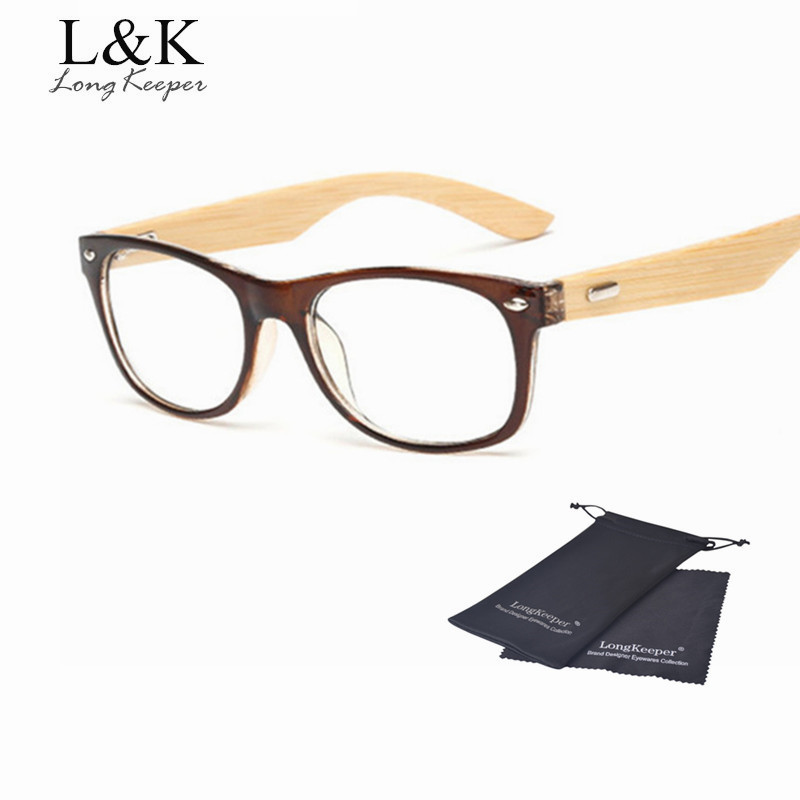 long keeper bamboo temples glasses frame men women eyeglasses wood spectacle frames original wooden optical myopic