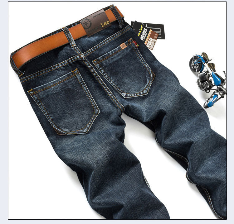 Jussara LEE Brand Jeans Men Stripe Jeans Male Casual Straight Denim Men's Jeans Slim Wholesale Jeans(China (Mainland))