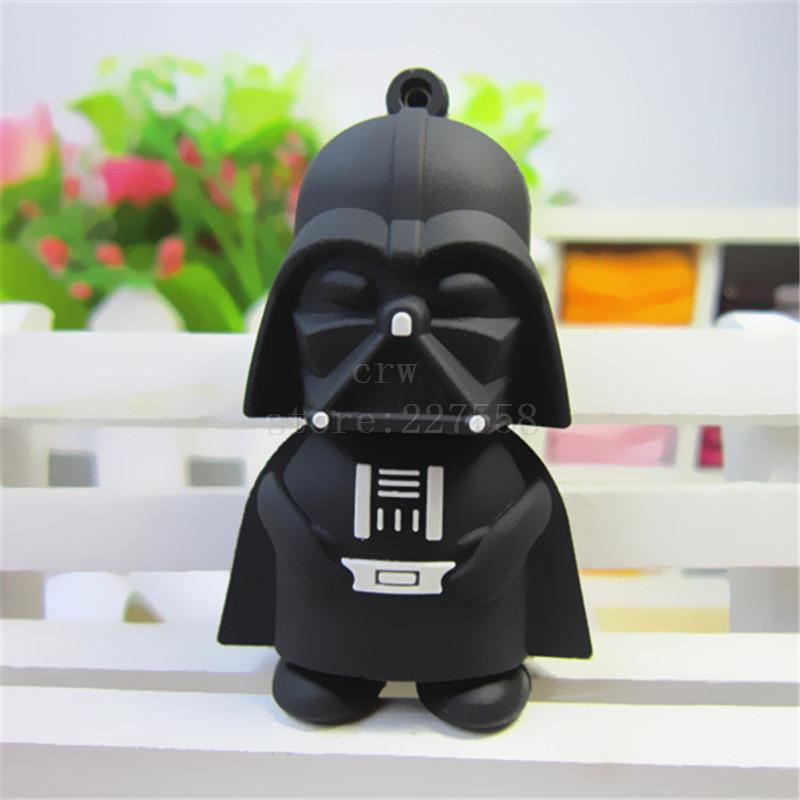 Pen drive Star wars darth vader 4GB/8GB/16GB/32GB/64gb usb 2.0 flash drive flash memory stick pendrive Free shipping(China (Mainland))