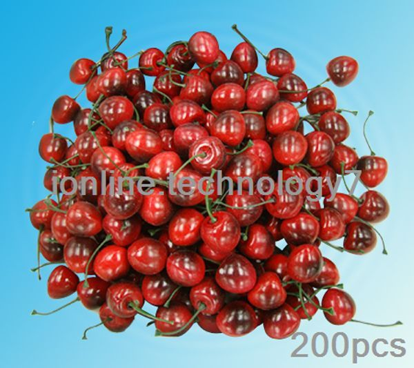 Artificial cherry fake fruit faux food kitchen house party for Artificial cherries decoration