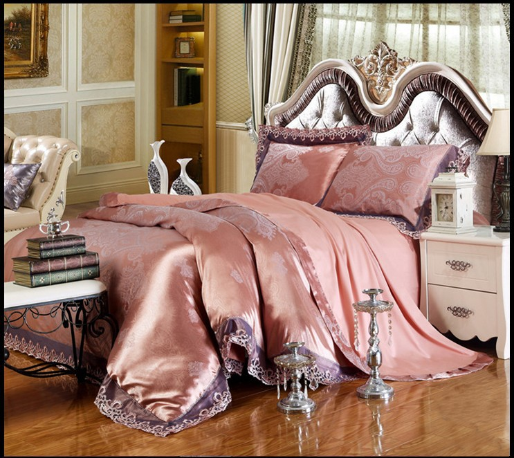 1.5m/1.8m/2.0m width bed Classic Modal tribute silk bedclothes 4pcs lace jacquard luxury comforter/duvet cover bed sets/J3046(China (Mainland))