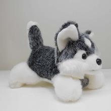 cute plush gray Husky dog toy high quality lying husky dog doll about 45cm