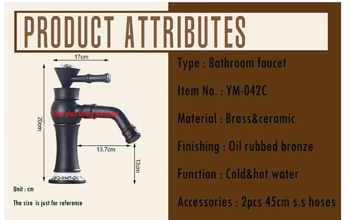 Купить Grifo омовения рук масло втирают черный бронзовый античная медь бассейна кран мода горячей холодной раковина нажмите Faucets YM-042C