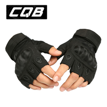 Outdoor tactical gloves semi-finger Carbon fiber tortoise shell slip-resistant gloves military combat gloves free shipping(China (Mainland))