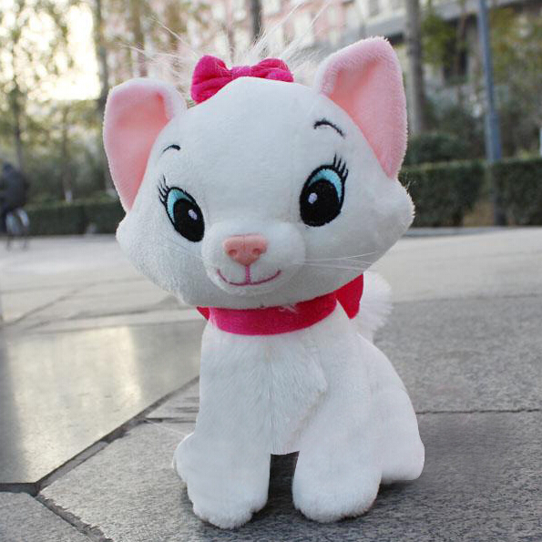 1pc 20cm & 30cm The Aristocats Cat Plush Toys Marie Cat Plush Dolls Kawaii Soft Cartoon Animals toys for Children(China (Mainland))