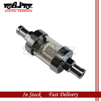 FF-2001S High quality new style short chrome plated clear view glass fuel filter 5/16'' for car ,motorcycle ATV