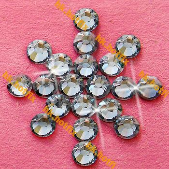 ss16 GENUINE Swarovski Elements Moonlight ( MOL ) 720 pcs ( NO hotfix Rhinestone ) Glass 16ss 2058 FLATBACK Clear Crystal Bulk