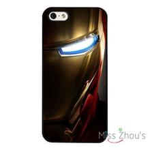 Ironman Shadow Marvel Superhero back skins mobile cellphone cases cover for iphone 4/4s 5/5s 5c SE 6/6s plus ipod touch 4/5/6
