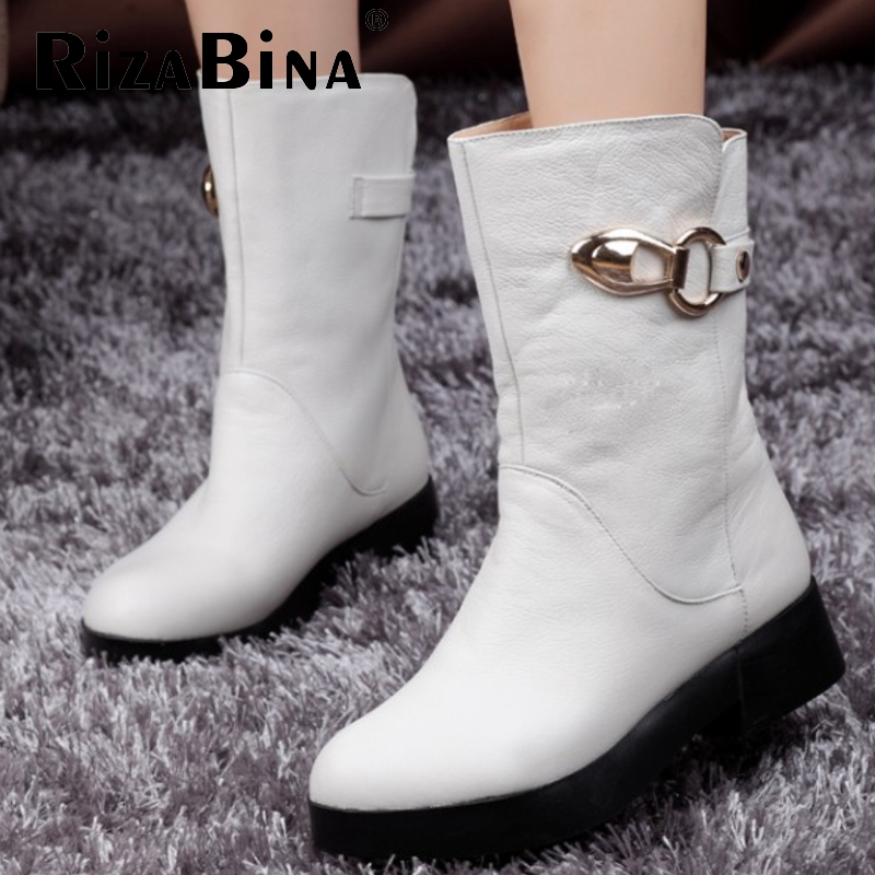 women real genuine leather martin flat ankle boots half short botas autumn winter boot warm footwear shoes R7604 size 34-39<br><br>Aliexpress