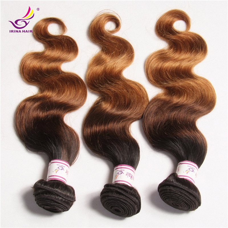 Peruvian Body Wave 3 bundles 3 Tone Ombre Hair Extensions 3pcs Lot  #1b #4 #27 Virgin Ombre Human Hair weaves Rosa hair products<br><br>Aliexpress