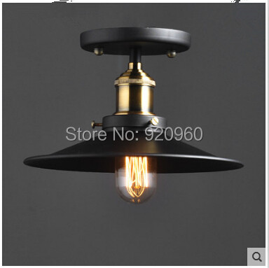 Industrial Vintage Ceiling Lights American Village Iron Copper Lamp Study Room Hall Aisle - DGY Indoor Lighting store